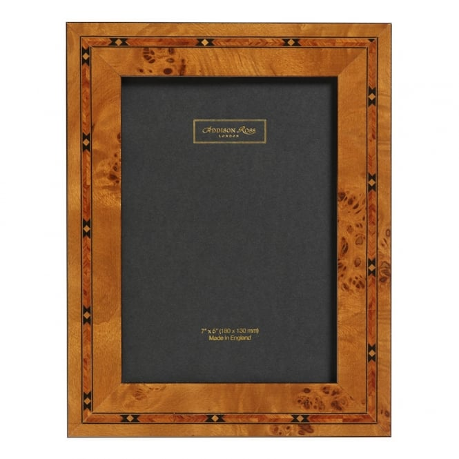 Addison Ross Brown Star Inlay Marquetry Frame