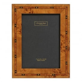 Brown Star Inlay Marquetry Frame