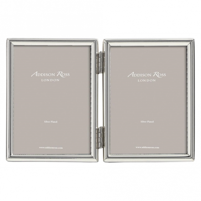 Addison Ross Fine Edged Double Silver Frame