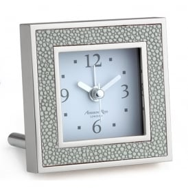 Grey Shagreen Alarm Clock