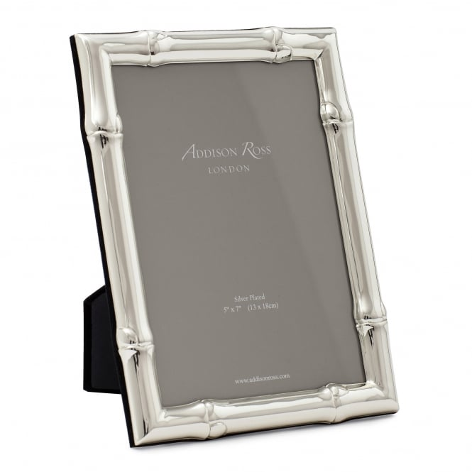 Addison Ross Large Wide Bamboo Silver Frame