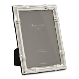 Large Wide Bamboo Silver Frame