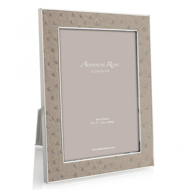 Addison Ross Ostrich Shadow Silver Frame