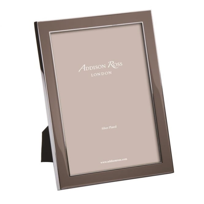 Addison Ross Silver Taupe Enamel Frame