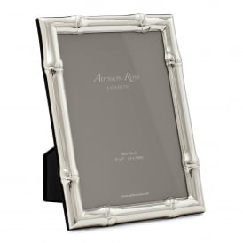 Wide Bamboo Silver Frame