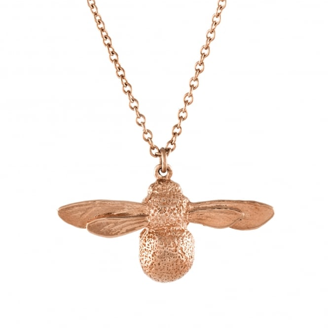Alex Monroe 18ct Rose Gold Plated Baby Bee Necklace