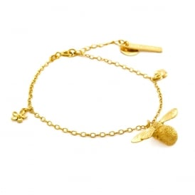 22ct Gold Plated Baby Bee Bracelet