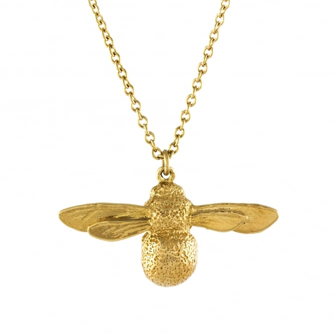 Alex Monroe 22ct Gold Plated Baby Bee Necklace