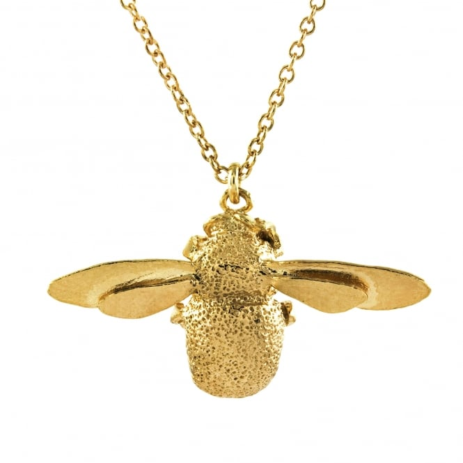 Alex Monroe 22ct Gold Plated Bumblebee Necklace