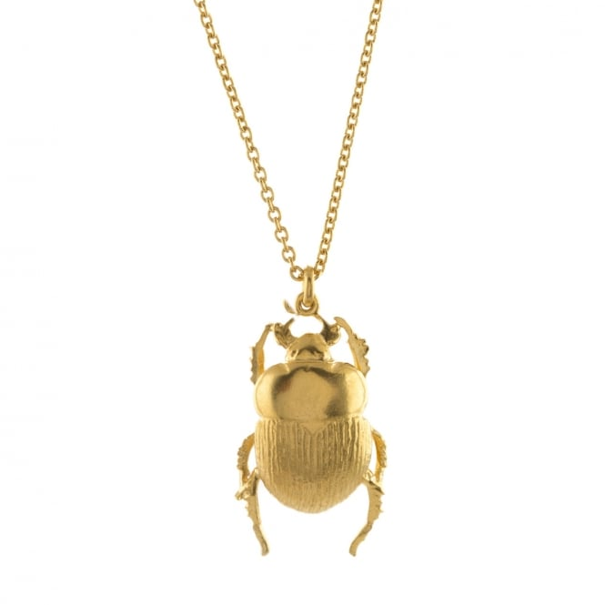 Alex Monroe 22ct Gold Plated Dor Beetle Necklace