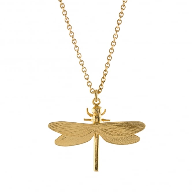 Alex Monroe 22ct Gold Plated Dragonfly Necklace