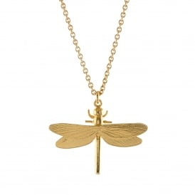 22ct Gold Plated Dragonfly Necklace