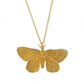 22ct Gold Plated Duke of Burgundy Butterfly Necklace