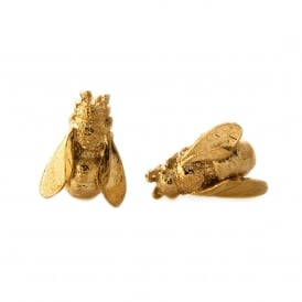 22ct Gold Plated Honeybee Stud Earrings