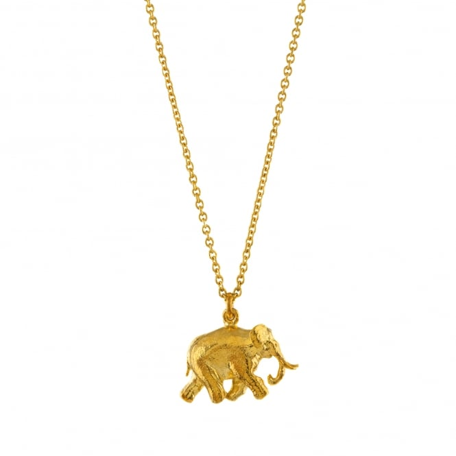 Alex Monroe 22ct Gold Plated Indian Elephant Necklace