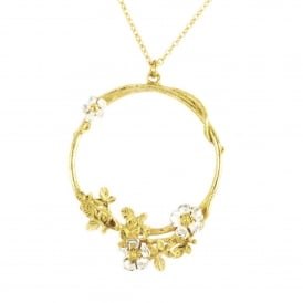 22ct Gold Plated Posy Twist Necklace