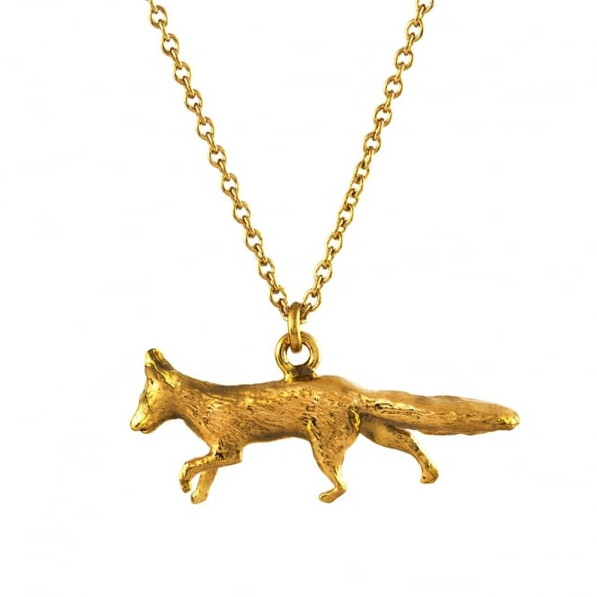 Alex Monroe 22ct Gold Plated Prowling Fox Necklace
