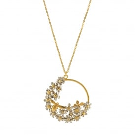 22ct Gold Plated Spring Posy Bee Loop Necklace