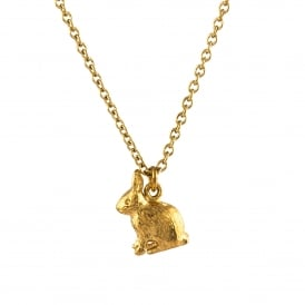 22ct Gold Sitting Bunny Necklace