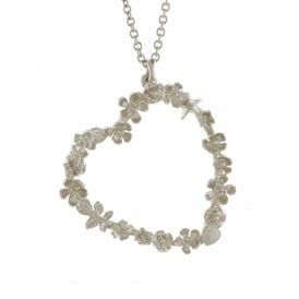 Delicate Floral Heart Necklace