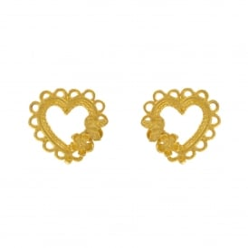 Laced Heart Earrings