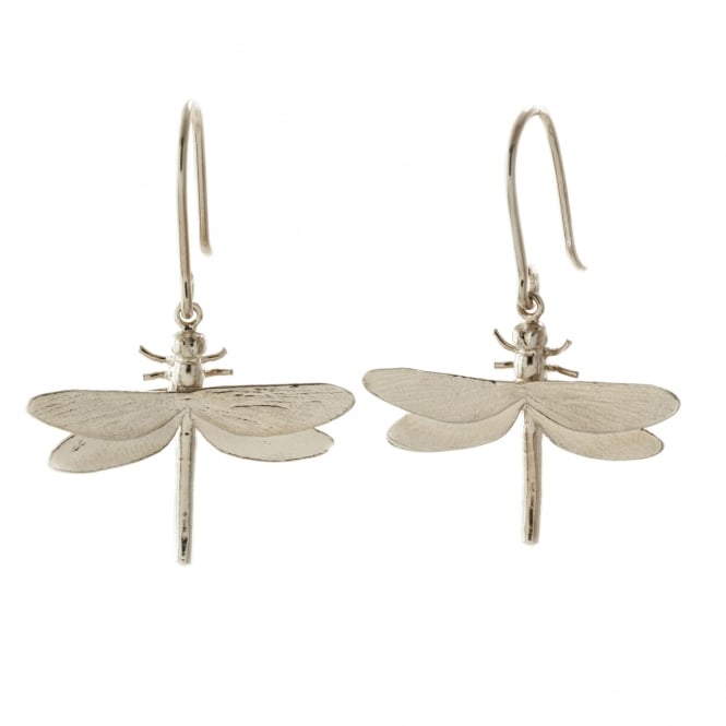 Alex Monroe Silver Dragonfly Hook Earrings