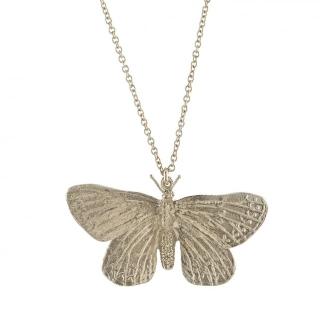 Alex Monroe Silver Duke of Burgundy Butterfly Necklace
