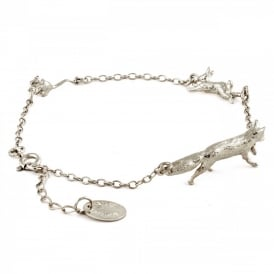 Silver Fox, Rabbit & Mouse Chase Bracelet