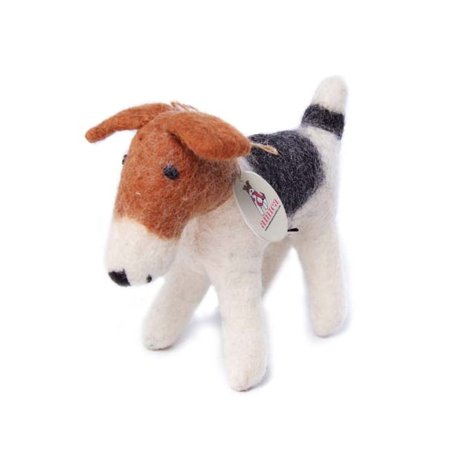 Amica Accessories Felted Wool Fox Terrier Small