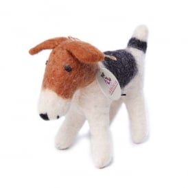 Felted Wool Fox Terrier Small