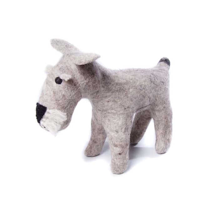 Amica Accessories Felted Wool Schnauzer Large