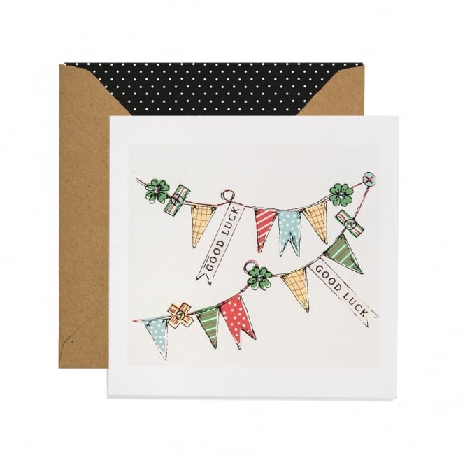 Apple and Clover Good Luck Bunting Card