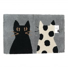 With Spotty Bath Mat
