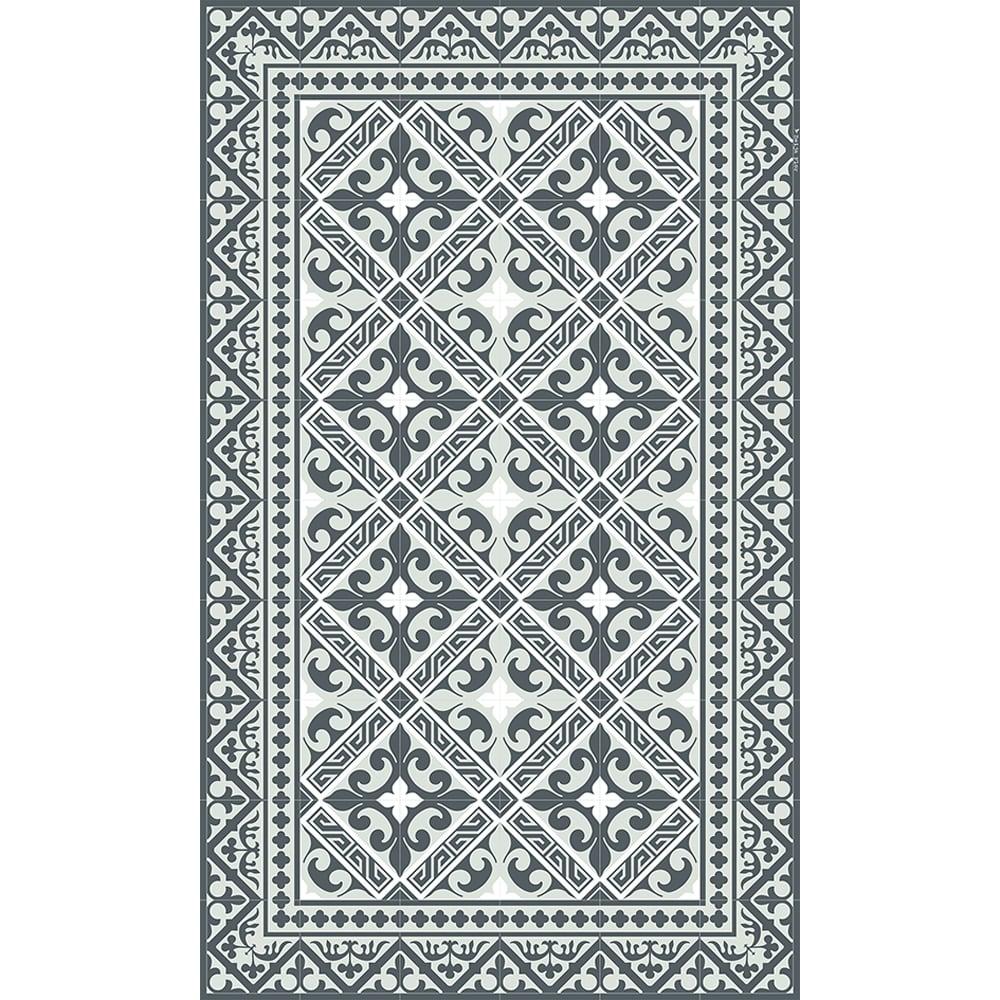 Beija Flor Vinyl Flor de Lis Grey Medium Mat