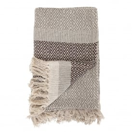 Brown Cotton Throw