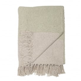 Green Cotton Throw