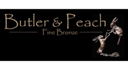 Butler & Peach Limited Edition Small Hares Running Bronze