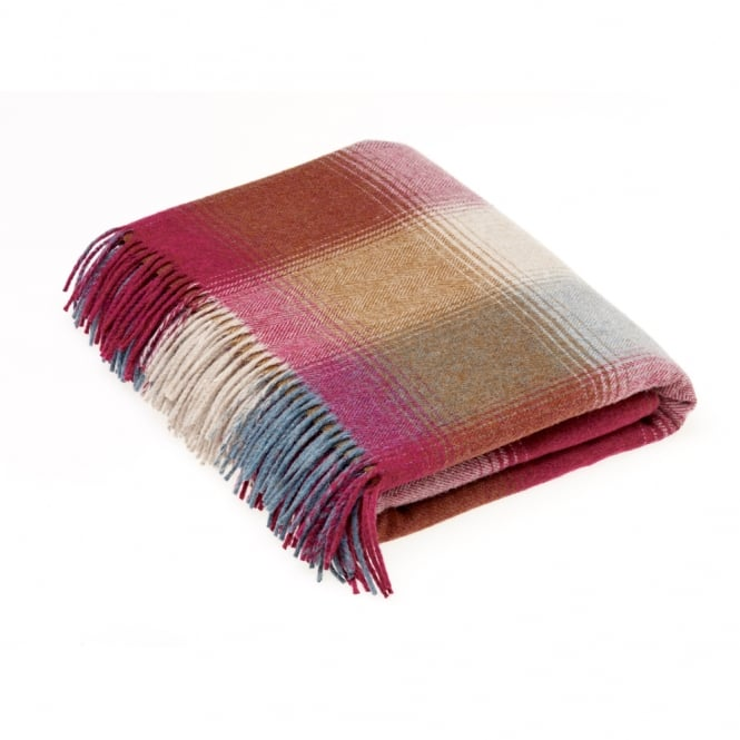 Bronte by Moon Lambswool Elemental Kilnsey Rhodolite Throw