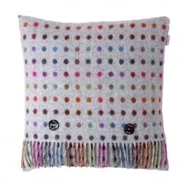 Lambswool Multi Spot Grey Cushion