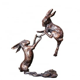 Boxing Hares Bronze