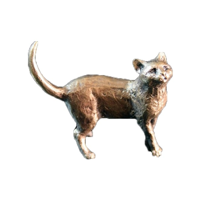 Butler & Peach Cat Standing Bronze