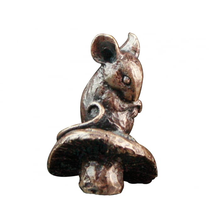 Butler & Peach Mouse On Toadstool Bronze