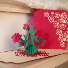 Bouquet of Roses Pop Up Card