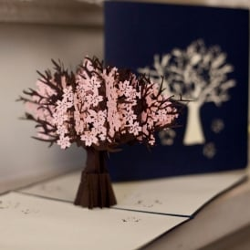 Cherry Blossom Tree Pop Up Card