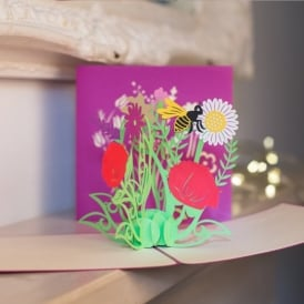 Wild Flowers Pop Up Card