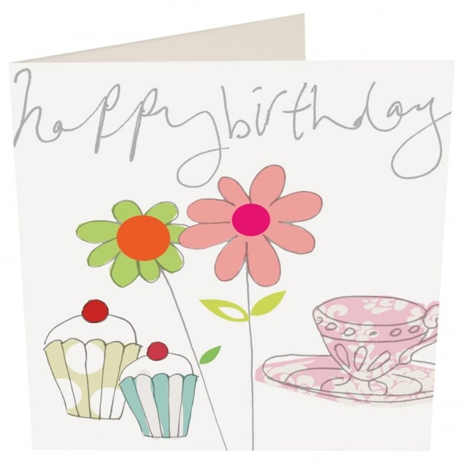 Caroline Gardner Birthday Tea Card