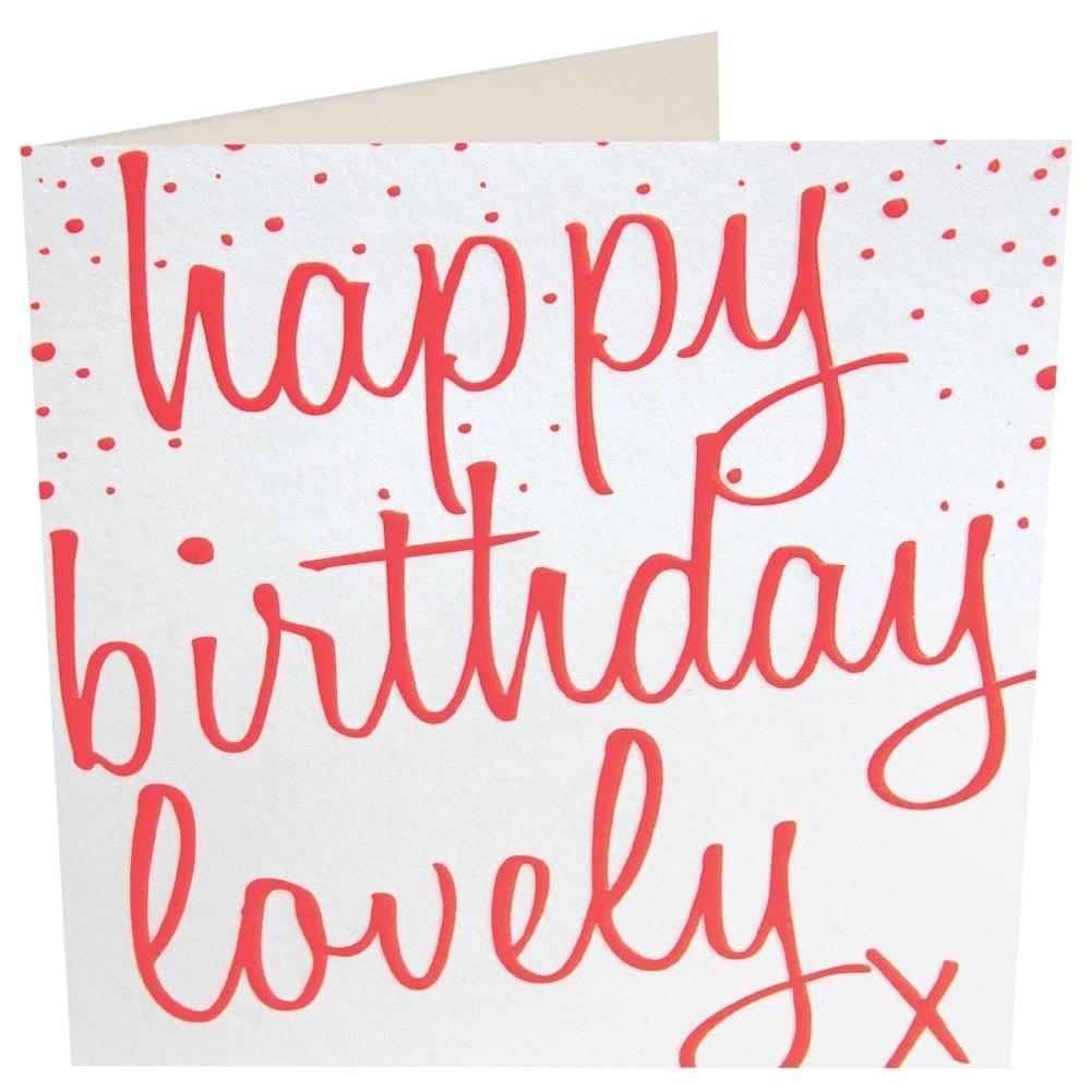 Caroline Gardner Happy Birthday Lovely Card
