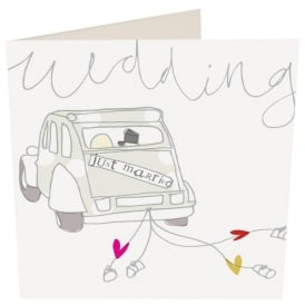Just Married Car Card