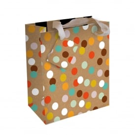 Kraft Spot Large Gift Bag