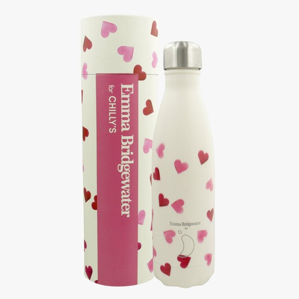 Emma Bridgewater Pink Hearts Stainless Steel 500ml Bottle